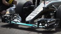 Přední křídlo vozu Mercedes F1 W07 Hybrid v Monaku