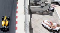 Kevin Magnussen při tréninku v Monaku