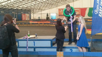 Vyhlášení vítězů závodu motokár v rámci tiskové konference OMV