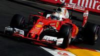 Sebastian Vettel při kvalifikaci v Monaku