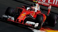 Kimi Räikkönen při kvalifikaci v Monaku