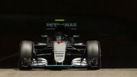 Nico Rosberg při kvalifikaci v Monaku