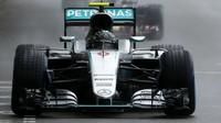 Nico Rosberg v závodě v Monaku