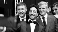 Daniel Ricciardo a Marcus Ericsson při módní prohlídce v Monaku