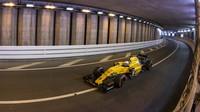 Kevin Magnussen při kvalifikaci v Monaku
