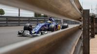 Marcus Ericsson při kvalifikaci v Monaku