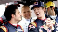 Carlos Sainz, Daniil Kvajt, Valtteri Bottas a Felipe Nasr v Monaku