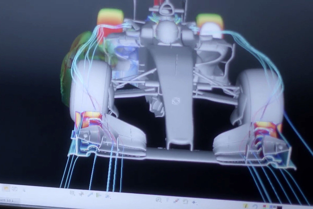 Model Mercedesu při počítačových simulacích
