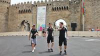 Sergio Pérez se seznamuje s tratí v Baku