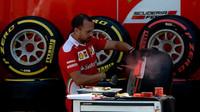 Příprava pneumatik na závodní víkend v Baku