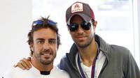 Fernando Alonso a Enrique Iglesias v Baku