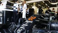 Jenson Button před závodem v Baku