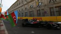 Jenson Button po závodě v Baku