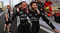 Radost mechaniků týmu Force India v Baku