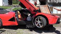 Totálně zničené Ferrari Laferrari