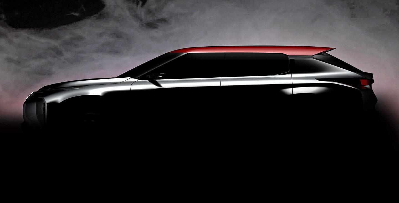 Černá, červená, atraktivní linie, hodně horká novinka od Mitsubishi na první fotce - anotační foto