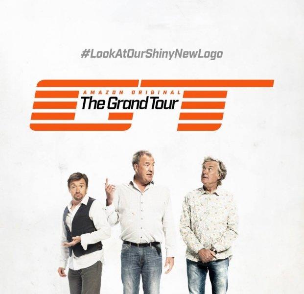 Clarkson, May a Hammond ukázali logo svého nového pořadu The Grand Tour - anotační foto