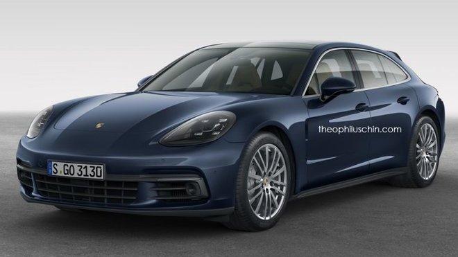 Nejdražší Porsche v nabídce? Možná jím bude kombi Panamera Sport Turismo Wagon - anotačné foto