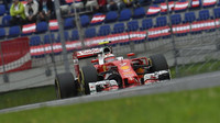 Kimi Räikkönen v závodě na Red Bull Ringu