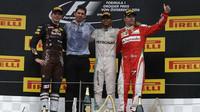Nejlepší piloti na pódiu po závodě na Red Bull Ringu