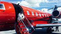 Lewis Hamiltonse se svým tryskovým letadlem