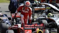 Kimi Räikkönen po závodě v Silverstone