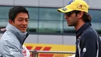 Rio Harjanto a Felipe Nasr v Silverstone
