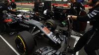 Jenson Button před závodem v Silverstone