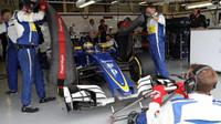 Marcus Ericsson před závodem v Silverstone