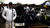 Valtteri Bottas před závodem v Silverstone