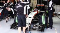 Nikita Mazepin při posledních sezónních testech v Silverstone, druhý den