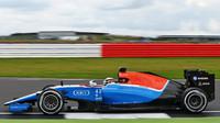 Jordan King při posledních sezónních testech v Silverstone, druhý den