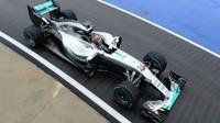 Pascal Wehrlein při posledních sezónních testech v Silverstone, první den