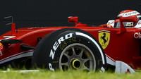 Kimi při posledních sezónních testech v Silverstone, druhý den