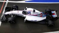 Valtteri Bottas s Williamsem FW38 druhý den testů v Silverstone