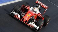 Sebastian Vettel při sobotním tréninku v Maďarsku