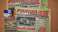 Dobové materiálky k Velké ceně Maďarska 1987, včetně vstupenky
