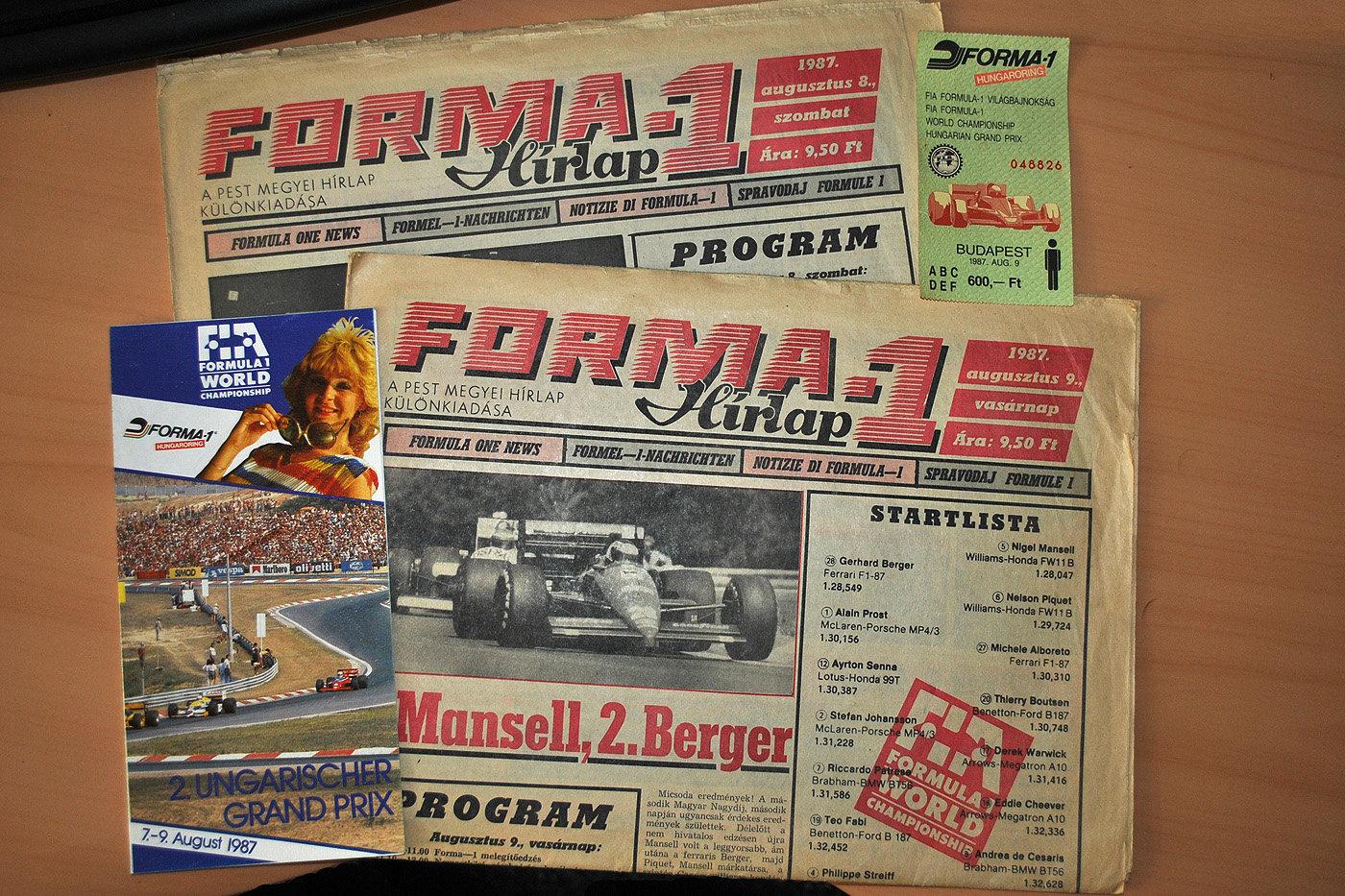 Hurá do Maďarska... před třiceti lety. Jak tehdy vypadala návštěva Grand Prix? - anotační foto