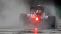 Pascal Wehrlein při sobotní deštivé kvalifikaci v Maďarsku