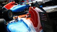 Rio Harjanto a Pascal Wehrlein čekají na výjezd při sobotní kvalifikaci v Maďarsku