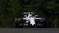Felipe Massa při sobotním tréninku v Maďarsku
