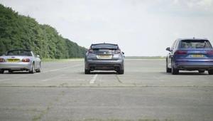 VIDEO: Může Audi SQ7 TDI porazit šílenou Hondu Civic Type R? - anotační foto