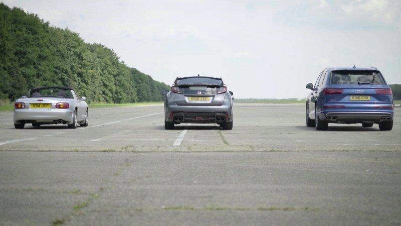 VIDEO: Může Audi SQ7 TDI porazit šílenou Hondu Civic Type-R? - anotační foto