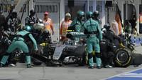 Nico Rosberg v závodě v Maďarsku