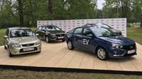 Lada Vesta EV ve společnosti EL Lady a standardních modelů Vesta a XRAY.