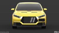 Takto by mohlo vypadat Mitsubishi Lancer Evo XI.