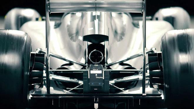 Zavěšení zadních kol na modelu vozu F1