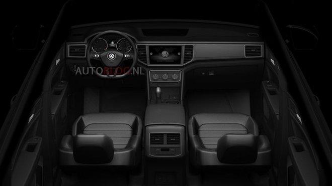 Pohled do interiéru Volkswagenu Teramont.