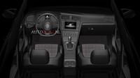 Pohled do interiéru omlazeného Volkswagen Golf GTI.