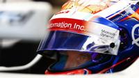 Romain Grosjean při pátečním tréninku v Belgii